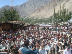 protest in hunza