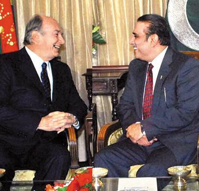 aga khan and zaradari