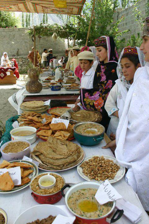 display of Hunza Food